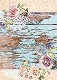 Cadence Papel de Arroz Tablón y Rosas 30x41 cm Ref. 519