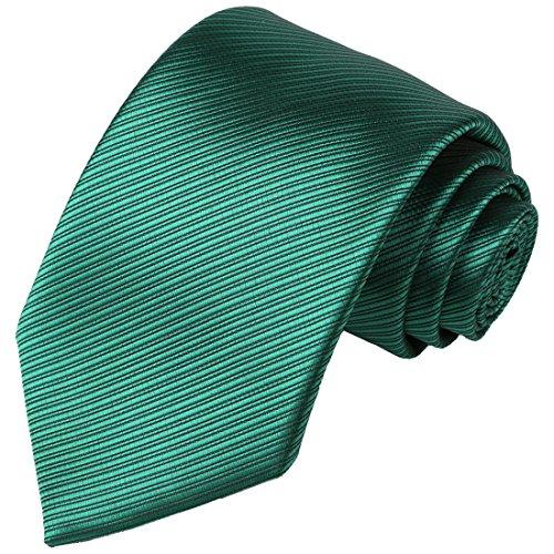 KissTies Green Tie Solid Striped Ne…