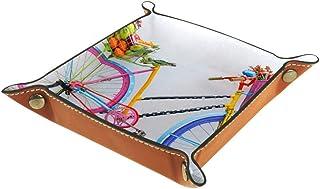 Vockgeng Panier de Fruits de vélo Boîte de Rangement Panier Organisateur de Bureau Plateau décoratif approprié pour Bureau...