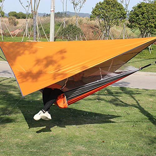 YSCYLY Swing Hangmat, Muskietennet, Hangmattenset, met ophangset voor buiten, reizen, tuin, vrije tijd