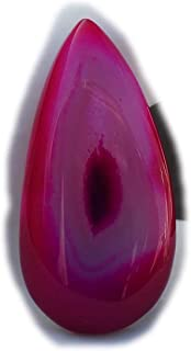 The Best Jewellery Pink Botswana Agate cabochon, 28Ct Natural Gemstone, Pear Shape Cabochon For Jewelry Making (34x17x6mm)...