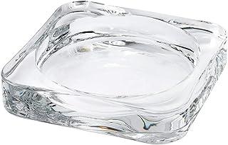 Digital Shoppy IKEA Candle Dish, Clear Glass, 10x10 cm (4x4)