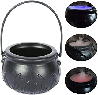 Lesgos Halloween Mist Maker Fogger Water Fountain Halloween Decoration Fog Machine Misting Cauldron Color Changing Party Prop for Party Decoration