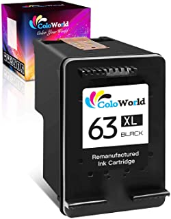 ColoWorld Remanufactured Ink Cartridge Replacement for HP 63 63XL (1 Black) to Use with HP Envy 4520 4510 3634 4521 Office...