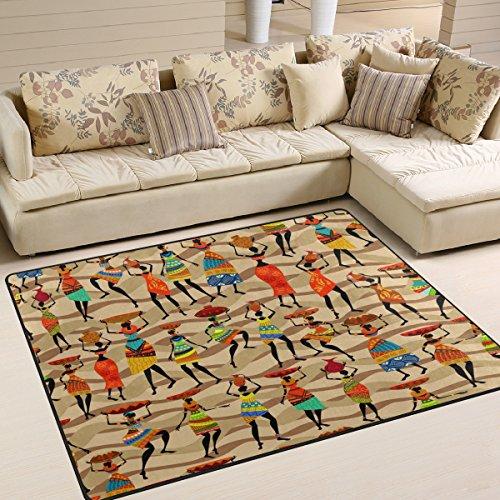 Use7 Alfombra étnica para mujer africana, para sala de estar, dormitorio, 160 cm x 122 cm