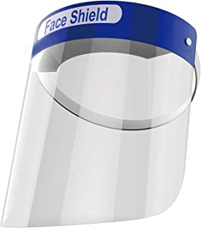 Elvissmart ES-FS10 Protective Face Sheilds, Adjustable Shield, Transparent