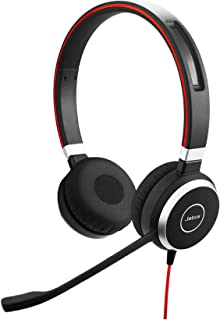 Jabra 6399-823-109 Evolve 40 MS USB Stereo Corded Headset,Black