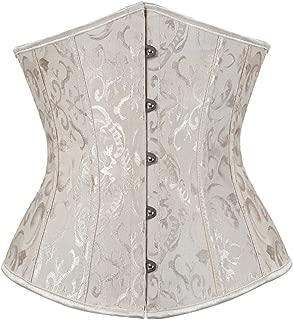 Women's Lace Up Corset Bustier Bridal Lingerie Plus Size Overbust Waist Cincher Bodyshaper Top
