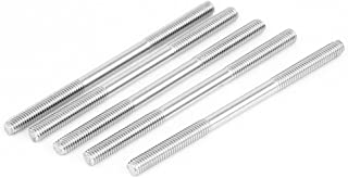 uxcell a15081000ux0463 M6x100mm Stainless Steel Double End Threaded Stud Screw Bolt Pack of 5