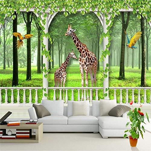 Sucsaistat Tapeten, Wandmalereien, 1389D,Giraffenmuster, Wohnzimmer Tv, Kinderzimmer Wandgemälde, 300Cm (B) X 210Cm (H)