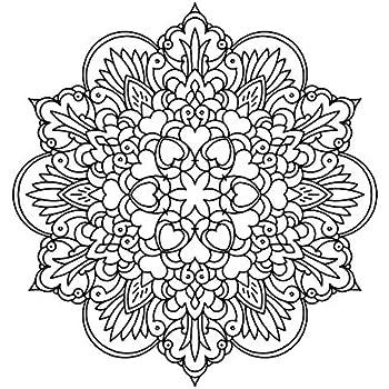 Mandala Cœurs Fleurs Pochoir Reutilisable A3 A4 A5 Et Plus Grandes Tailles Decoration Murale M10 Pochoir En Pvc Reutilisable Blanc A4 Size 210 X 297 Mm 8 3 X 11 7 In Amazon Fr Bricolage