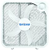 Hurricane HGC736501 Floor Fan-20 Inch, Classic Series, 3 Energy Efficient Speed Settings Compact Design, Lightweight-ETL Listed, 20' Box, White