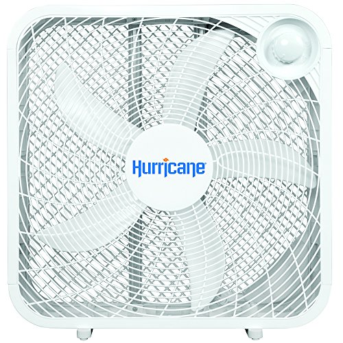Hurricane 736501 Classic Series Portable Floor Fan, 20', White