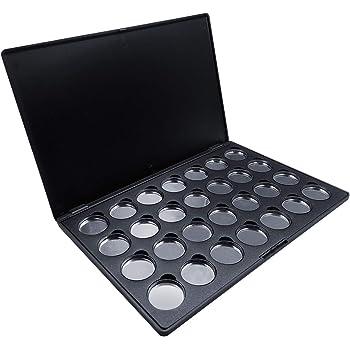Allwon vacía Paleta de Maquillaje de Sombra de Ojos magnética con sartenes metálicas Redondas de 28pcs 26mm: Amazon.es: Juguetes y juegos