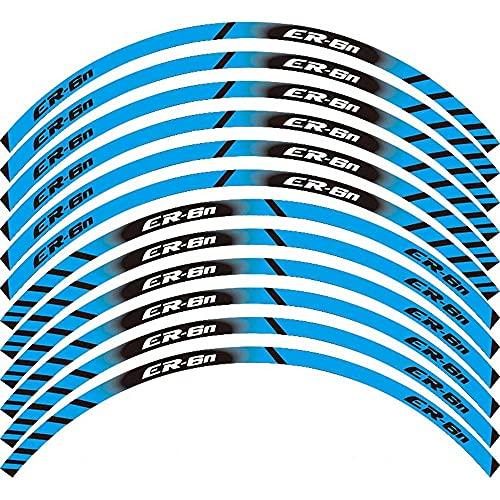 Calcomanía De Motocicleta Pegatinas De Llanta De Rueda Exterior Calcomanías Reflectantes De Borde De Película De Neumático para K-awasaki ER-6N ER6N (Color : 1)