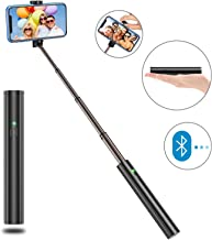 Bovon Palo Selfie Movil, Selfie Stick Bluetooth Extensible para Smartphones iOS y Android para iPhone 11 Pro Max/11 Pro/11/Xs/XS max/XR/X/8/8 Plus/7, Galaxy S10/S9/8/7/6/Note 9. Huawei Mate 30, etc