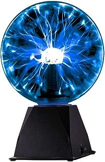 Kicko Blue Plasma Ball - 6 Inch - Nebula, Thunder Lightning, Plug-in - for Parties, Decorations, Prop, Kids, Bedroom, Home