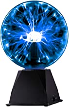 Kicko Blue Plasma Ball - 7 Inch - Nebula, Thunder Lightning, Plug-in - for Parties, Decorations, Prop, Kids, Bedroom, Home
