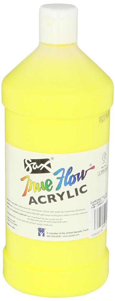 Sax True Flow Heavy Body Acrylic Paint, 1 Quart, Chrome Yellow