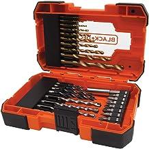 Black + Decker A7235-XJ 27-delig bit & TIN set voor boren en schroeven (incl. magnetische houder, in praktische opbergbo...