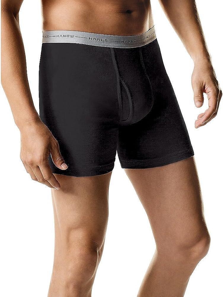 Hanes Boxer Briefs (Black/Grey) Style # 2349ATB 2349ATB-2XL-Black/Grey