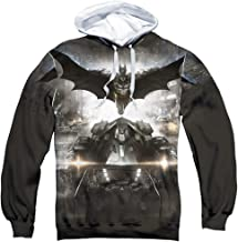 Trevco Batman Arkham Knight Poster Unisex Adult Sublimated Pull-Over Hoodie for Men and Women