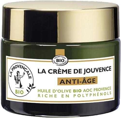La Provençale – La Crème de Jouvence Anti-Âge – Soin Visage Certifié Bio – Huile d'Olive Bio AOC Provence – Pour Tous...