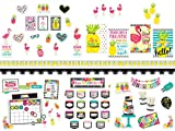 INCLUDES: 280 pieces: 4 posters, 25 borders, 4 bulletin board sets (179 pieces in total), 72 cut-outs. THEME FEATURES: The bright pops of color and lush designs of the Simply Stylish Tropical theme create a tropical paradise in the classroom. MATERIA...