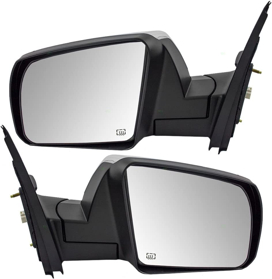 Brock Replacement Pair Set 18%OFF Power Chrome Heated View Mirrors Side 新作通販