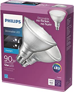 Philips 90W Equivalent Daylight (5000K) PAR38 Dimmable Classic Glass LED Energy Star Flood Light