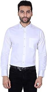 Fashion Freakzz Men's Plain/Solid Slim Fit Full Sleeve Cotton White Formal Shirt