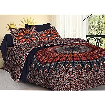 TIGER EXPORTS Cotton 200 TC Bedsheet (Multicolour_King)