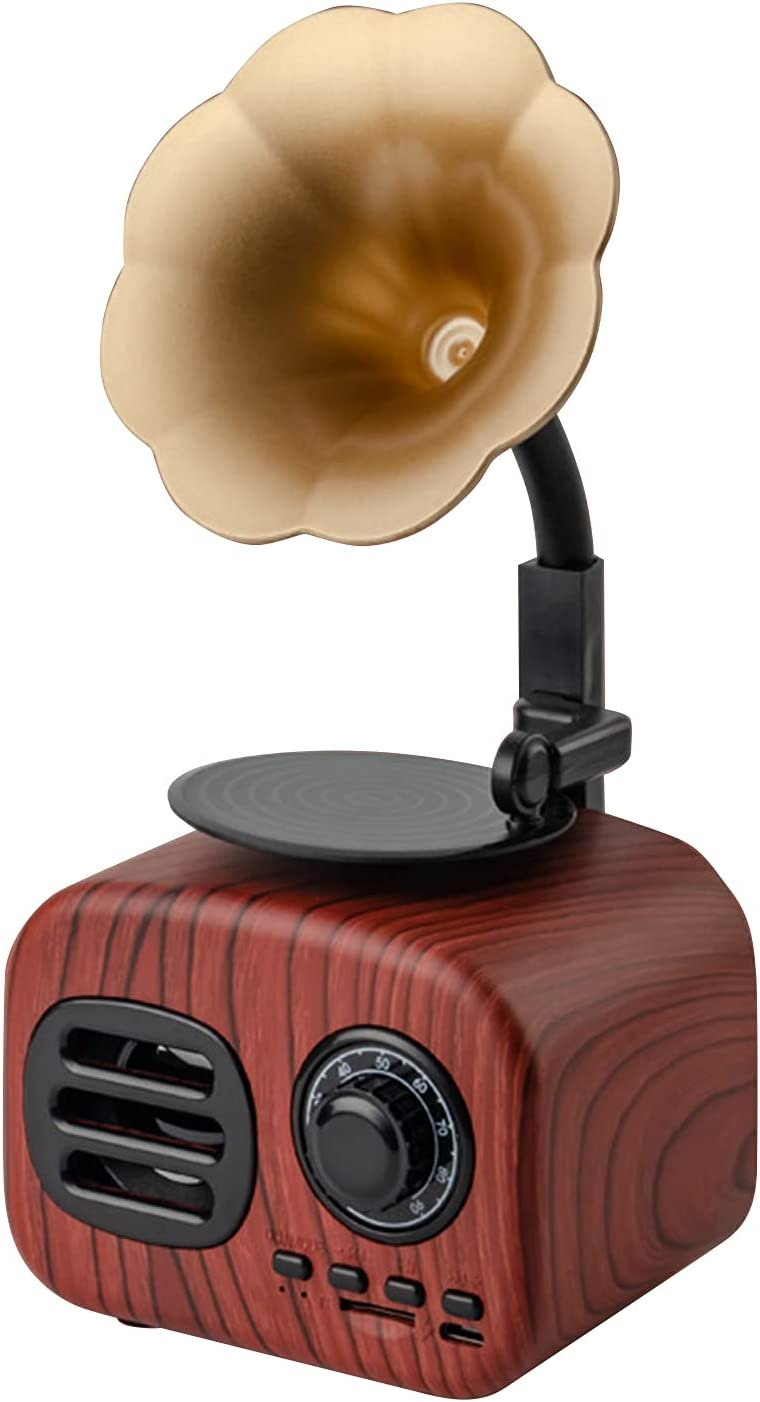 Retro Phonograph Style BT Speaker Audio Box Portable Loudspeaker Online Max 46% OFF limited product