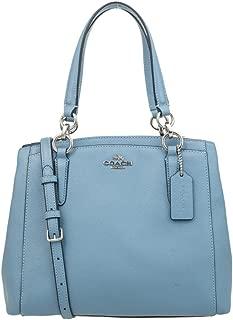 COACH Crossgrain Leather Minetta Crossbody Shoulder Bag F57847 (wathet)