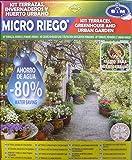 S&M 545009 Kit Completo de microriego por Goteo para 20 Macetas terrazas, invernaderos y huertos urbanos, Negro