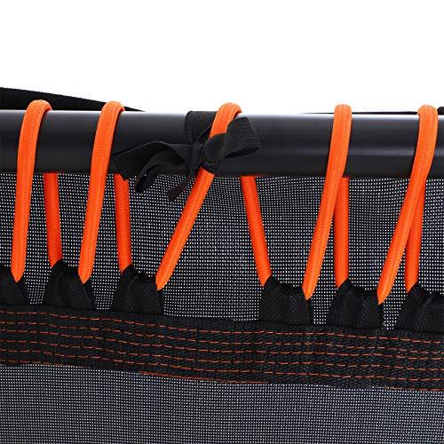 """HOMCOM 45"""" Octagonal Mini Trampoline Rebounder Indoor Outdoor Mini Jumper with Adjustable Handle - Orange"""