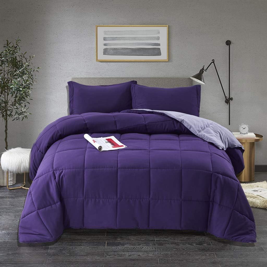 Bedream 3 Pieces Bargain sale All Season Alternative Reversible Comforte 5 popular Down