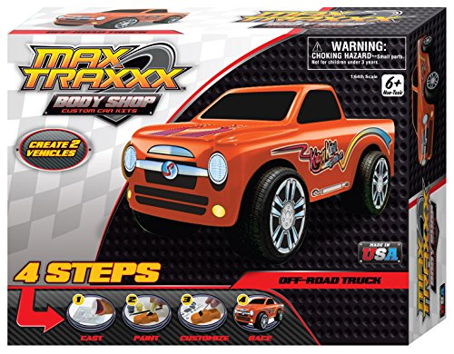 Max Traxxx Award Winning Body Shop PerfectCast Off Road Truck Cast, Paint and Play Craft Kit