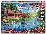 Educa Series. Casita en el Lago. Puzzle de 5000 Piezas. Ref, Multicolor (19056)