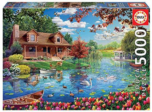 Educa 19056-5000 Teile - Haus am See 5000 Teile Puzzle
