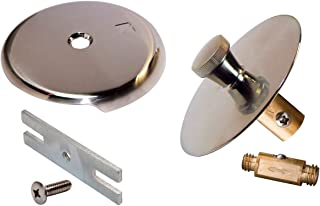 Keeney K61-99DSBN Quick Cover-Up Bath Drain Trim Kit with Overflow Plate, Tarnish Free Brushed Nickel