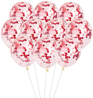 24 Pcs Red Confetti Balloons for Party Wedding Decorations, 12 Inch