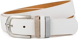 styleBREAKER cinturón de mujer monocolor con pasador de purpurina, acortable 03010091