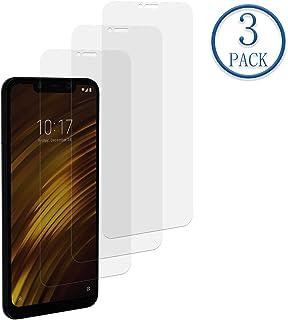 Karomenic kompatibel mit Xiaomi Pocophone F1 360 Grad H/ülle Panzerglas 3 in 1 Hart PC Schutzh/ülle Full Body Rundumschutz Sto/ßfest Ganzk/örper Bumper Handyh/ülle Hardcase Cover,Schwarz
