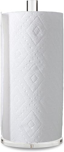 "lowest Worhe Clear Acrylic Paper Towel Holders 5.5"" Diameter Sturdy Base, online for Kitchen Bathroom Vanity Countertop , Paper Towel Dispenser online for Tear Paper Towel Roll(YGC001) sale"