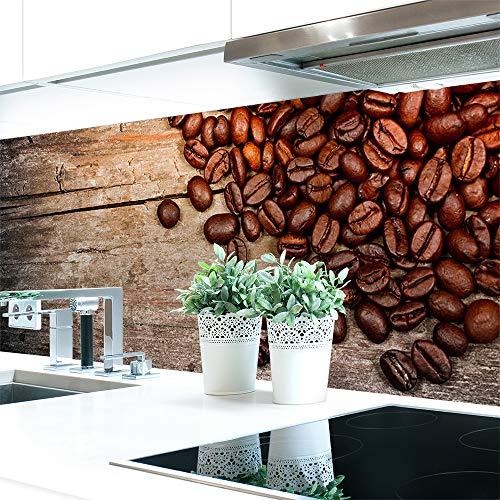 Küchenrückwand < Kaffee Bohnen > Premium Hart-PVC 0,4 mm selbstklebend 220x60cm