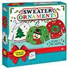 Creativity for Kids 6192000 Sweater Ornaments - Create 3 Ugly Sweater Christmas Tree Ornaments - Holiday Crafts for Kids Multicolor