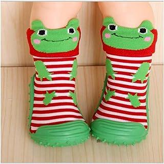 LiuQ, LiuQ Bebé Calcetines for niños Piso de Fondo Suave Antideslizante Zapatos for niños pequeños Zapatos for niños recién Nacidos Calcetines con Suelas de Goma Calcetines for bebés for niños