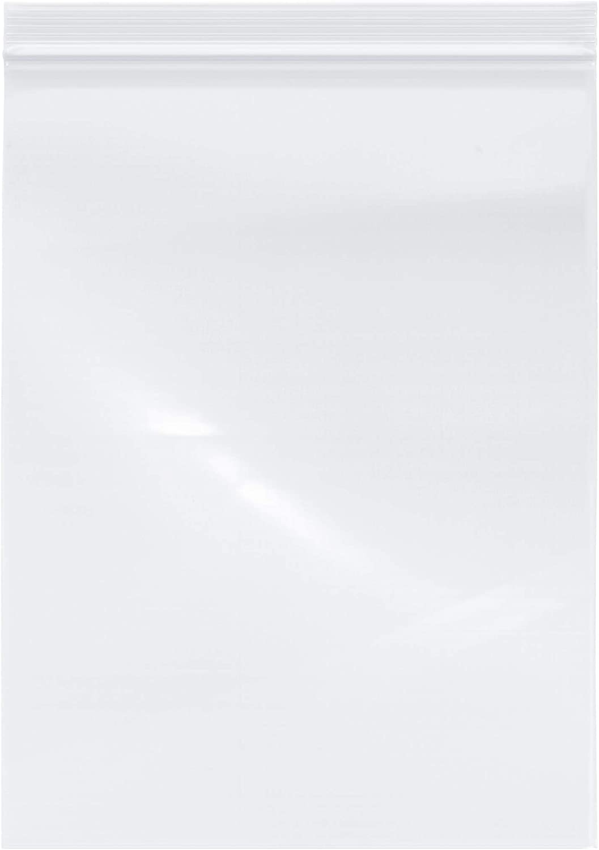 Plymor Industrial Duty Plastic Reclosable Zipper Bags Pack of 50 6 Mil 4 x 6