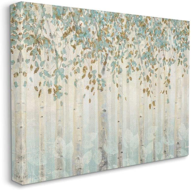 Stupell Industries Nashville-Davidson Mall Abstract sale Forest Leaves Trees Soft Tan Pa Blue